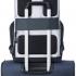کوله-پشتی-دلسی-مدل-securflap-نقره-ای-202061011-نمای-نصب-شده-روی-دسته-چمدان