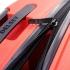 چمدان دلسی مدل BELMONT PLUS سایز بزرگ قرمز رنگ- زیپ اصلی در حالت باز