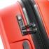 چمدان دلسی مدل BELMONT PLUS سایز بزرگ قرمز رنگ- زیپ اصلی در حالت بسته