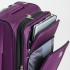 چمدان دلسی مدل هلیوم کروز - 215180008- نمای سه رح با زیپ های باز شده