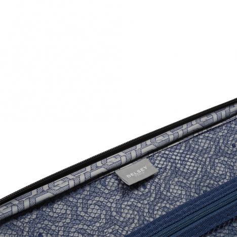 چمدان دلسی مدل 346881101 نمای برند داخل چمدان