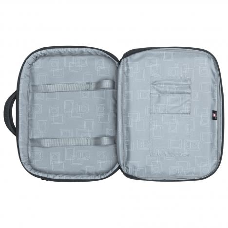 نمای کامل از داخل کیف لپ تاپ دلسی مدل Bellecour