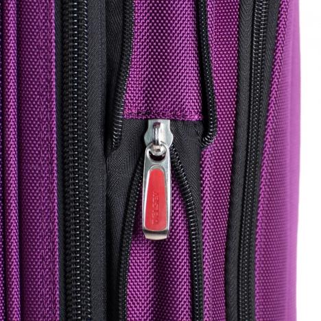 چمدان دلسی Helium Cruise - سه سایز - نمای زیپ از کنار