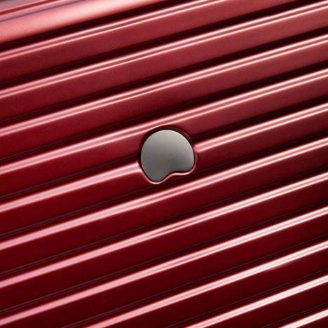 چمدان دلسی - کالکشن کامارتین پلاس-کد207880104-نمای نزدیک از لوگوی درج شده روی بدنه چمدان