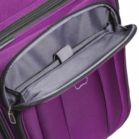 چمدان دلسی Helium Cruise - سه سایز - نمای زیپ جلویی چمدان