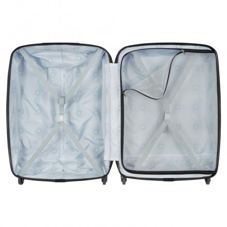 نمای باز شده از بالا چمدان دلسی مدل PLANINA - کد 351582100