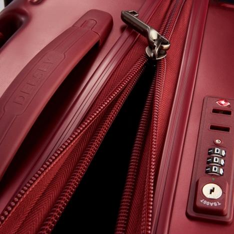 چمدان دلسی - کالکشن کامارتین پلاس-کد207881004-نمای نزدیک از زیپ باز شده چمدان