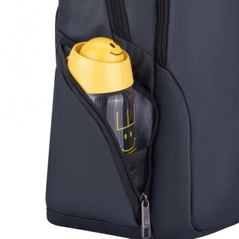 کوله پشتی-دلسی-مدل-پرویس-پلاس-خاکستری-394462911-نمای-جیب-بطری-آب