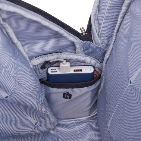کوله پشتی-دلسی-مدل-پرویس-پلاس-خاکستری-394462911-نمای-جای-نگهدارنده-پاوربانک-داخل-کوله-پشتی