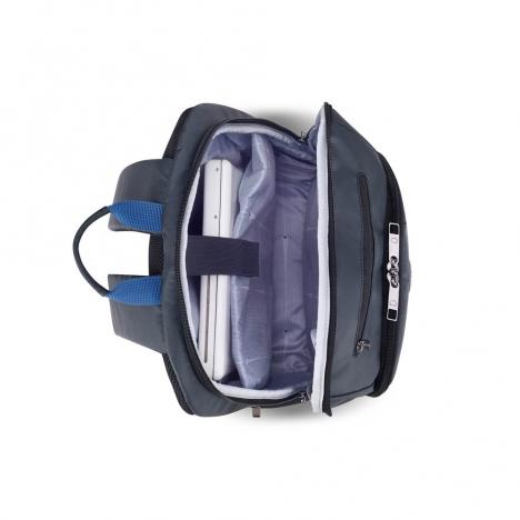 کوله پشتی-دلسی-مدل-پرویس-پلاس-خاکستری-394462911-نمای-بالا