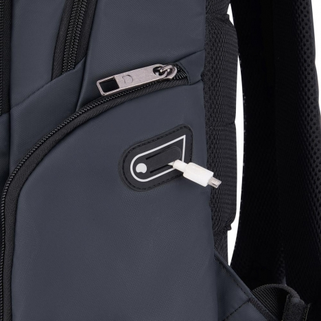 کوله پشتی-دلسی-مدل-پرویس-پلاس-خاکستری-394462911-نمای-سیم-یو-اس-بی