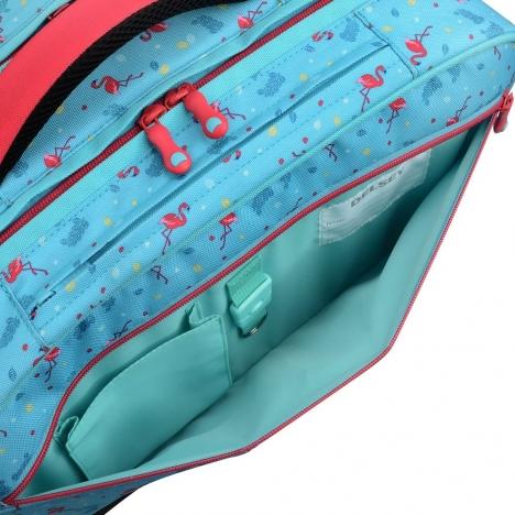 کوله چرخدار افقی دلسی مدل School 4