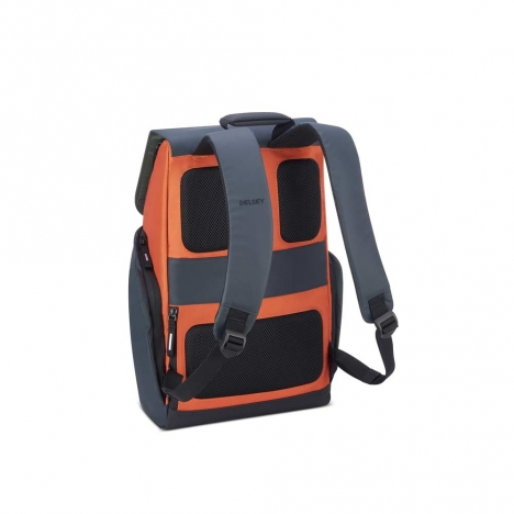 کوله-پشتی-دلسی-مدل-secuflap-نارنجی-202061025-نمای-پشت-و-بند-کوله-پشتی