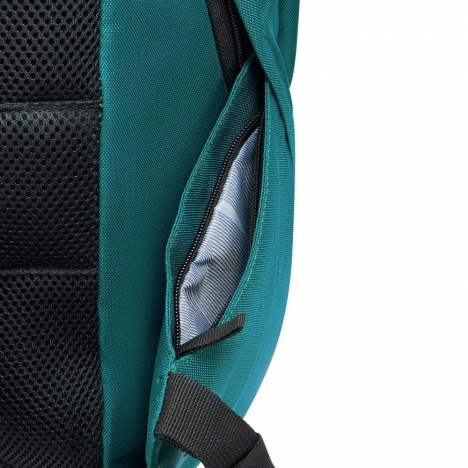 کوله-پشتی-دلسی-مدل-securban-سبز-333460303-نمای-زیپ-جیب-کناری