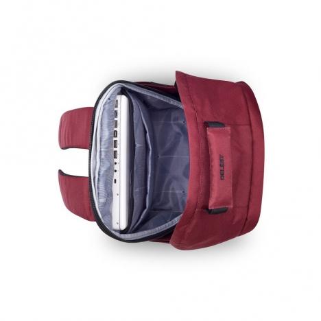کوله-پشتی-دلسی-مدل-securban-قرمز-333460304-نمای-بالا-و-داخل