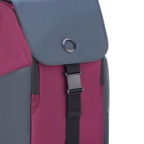کوله-پشتی-دلسی-مدل-securflap-قرمز-202061004-نمای-لوگو-دلسی-و-سگک