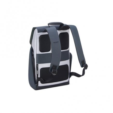 کوله-پشتی-دلسی-مدل-securflap-نقره-ای-202061011-نمای-پشت-و-بند-کوله-پشتی