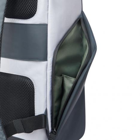 کوله-پشتی-دلسی-مدل-securflap-نقره-ای-202061011-نمای-جیب-کناری