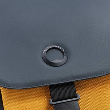 کوله-پشتی-دلسی-مدل-securflap-زرد-202061015-نمای-لوگو-دلسی