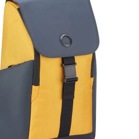 کوله-پشتی-دلسی-مدل-securflap-زرد-202061015-نمای-لوگو-و-سگک