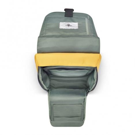 کوله-پشتی-دلسی-مدل-securflap-زرد-202061015-نمای-جیب-باز-شده