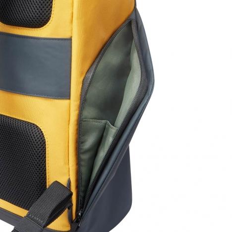 کوله-پشتی-دلسی-مدل-securflap-زرد-202061015-نمای-جیب-کناری
