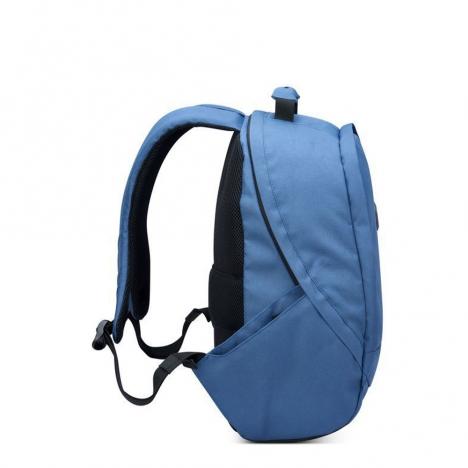 کوله-پشتی-دلسی-مدل-securflap-آبی-تیره-333460312-نمای-کناری