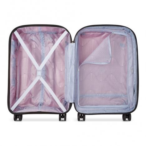چمدان دلسی مدل BELMONT PLUS سایز کابین قرمز رنگ- نمای داخل