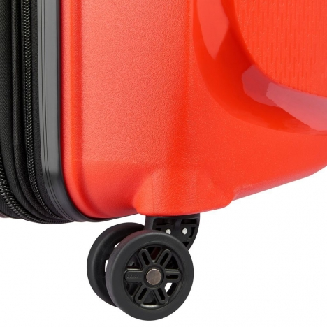 چمدان دلسی مدل BELMONT PLUS سایز کابین قرمز رنگ- چرخ چمدان