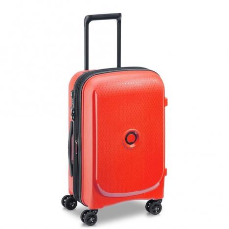 چمدان دلسی مدل BELMONT PLUS سایز کابین قرمز رنگ- نمای سه بعدی