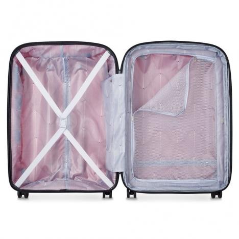چمدان دلسی مدل BELMONT PLUS سایز متوسط قرمز رنگ- نمای داخل