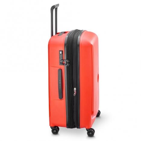 چمدان دلسی مدل BELMONT PLUS سایز متوسط قرمز رنگ- نمای کناره