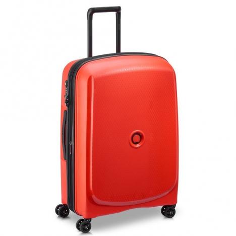 چمدان دلسی مدل BELMONT PLUS سایز متوسط قرمز رنگ- نمای سه بعدی