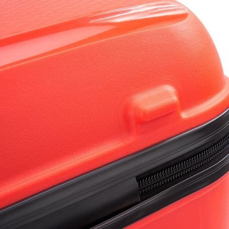 چمدان دلسی مدل BELMONT PLUS سایز بزرگ قرمز رنگ- نمای زیرین