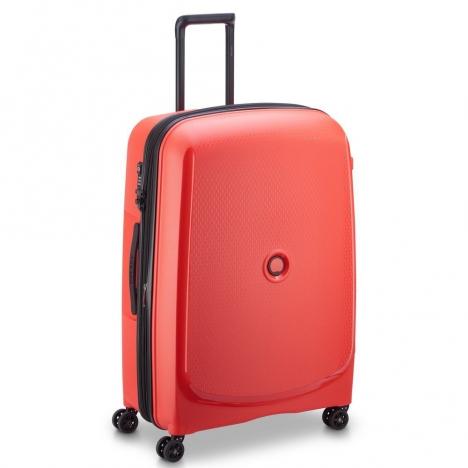 چمدان دلسی مدل BELMONT PLUS سایز بزرگ قرمز رنگ- نمای سه بعدی