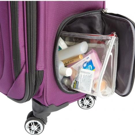 چمدان دلسی مدل هلیوم کروز - 215180008- نمای زیپ پایینی چمدان