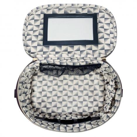 نمای باز شده از بالا از کیف آرایشی دلسی مدل montrouge - کد ر