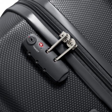 چمدان دلسی مدل 351580100 نمای قفل چمدان از نزدیک