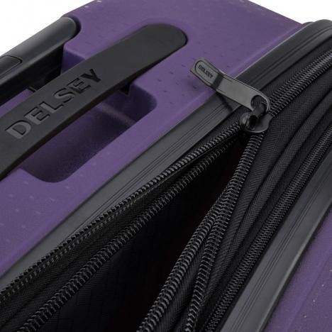 چمدان-دلسی-مدل-belmont-plus-بنفش-386180408-نمای-زیپ-باز-شده