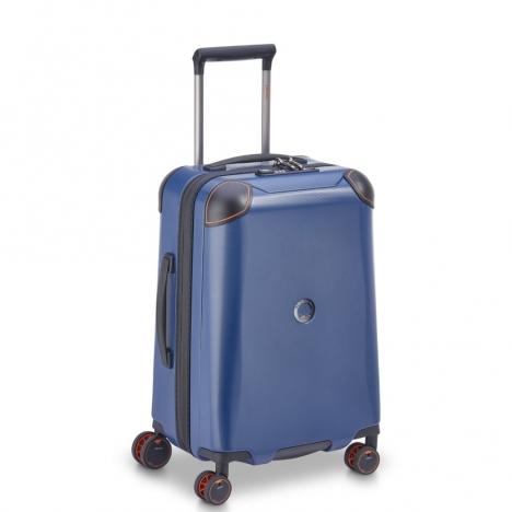 چمدان-دلسی-مدل-cactus-آبی-218080102-نمای-سه-رخ-از-چپ
