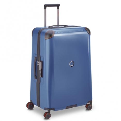 چمدان-دلسی-مدل-cactus-آبی-218082102-نمای-سه-رخ-از-چپ