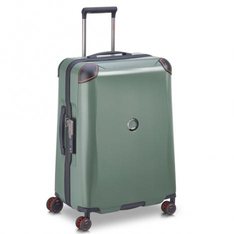 چمدان-دلسی-مدل-cactus-زیتونی-218082003-نمای-سه-رخ-از-چپ