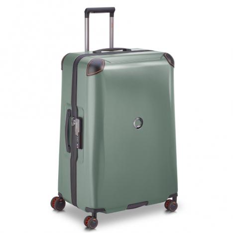 چمدان-دلسی-مدل-cactus-زیتونی-218082103-نمای-سه-رخ-از-چپ