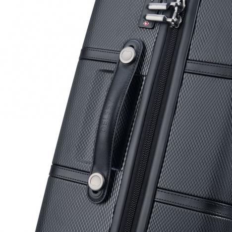 چمدان-دلسی-مدل-chatelet-air-مشکی-167280100-نمای-زیپ-و-دسته-چمدان