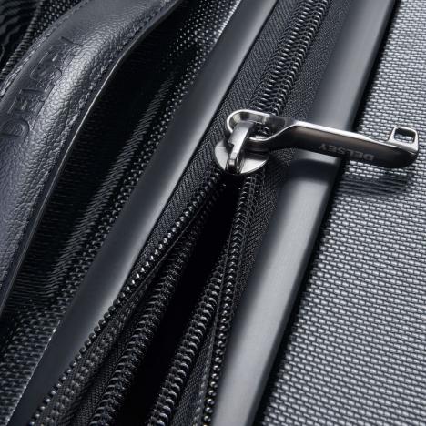 چمدان-دلسی-مدل-chatelet-air-مشکی-167282000-نمای-زیپ-باز-شده