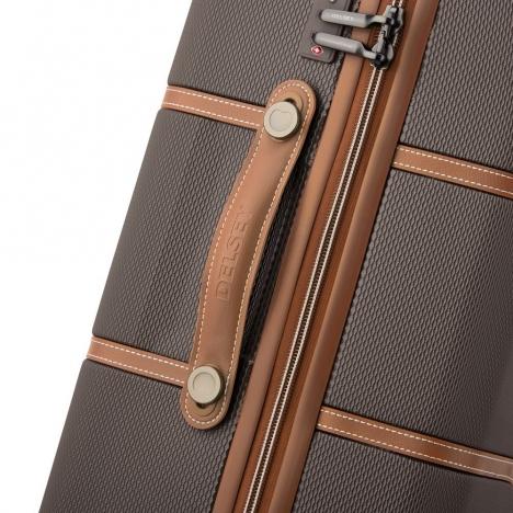 چمدان-دلسی-مدل-chatelet-air-شکلاتی-167281006-نمای-زیپ-و-دسته-چمدان