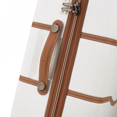 چمدان-دلسی-مدل-chatelet-air-شیری-167281015-نمای-زیپ-و-دسته-چمدان