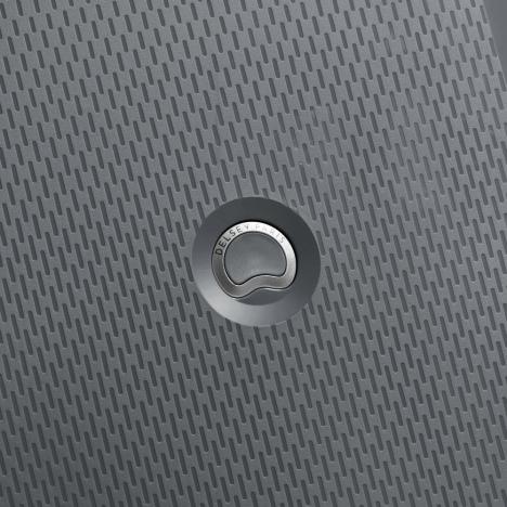 چمدان-دلسی-مدل-clavel-خاکستری-384583011-نمای-لوگو-دلسی