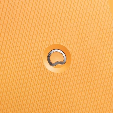چمدان-دلسی-مدل-clavel-زرد-384582005-نمای-لوگو-دلسی
