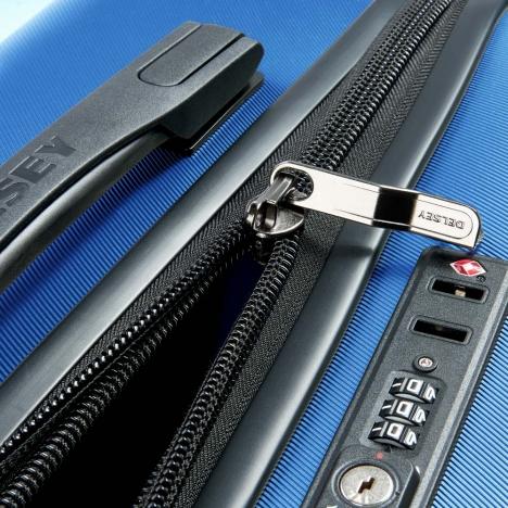 چمدان-دلسی-مدل-comete-plus-آبی-304181012-نمای-زیپ-باز